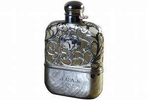 Stunning Vintage Sterling Silver Flask, 1930's Omero Home