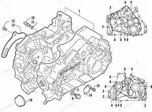 Arctic Cat Atv 2003 Oem Parts Diagram For Crankcase