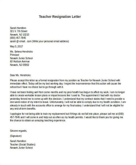 31 formal resignation letters 787 | Preschool Teacher Resignation