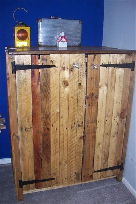 diy pallet wardrobe furniture pallets designs