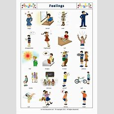 Feelings And Emotions Flashcards For Children Sentiments