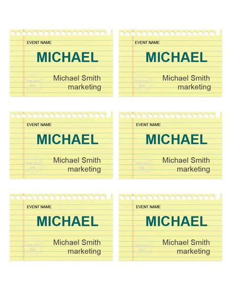 Event Name Tag Template by Event Name Tag Template Gallery Template Design Ideas