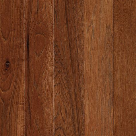 hardwood flooring hickory shop mohawk anniston 3 25 in w prefinished hickory hardwood flooring warm cherry at lowes com