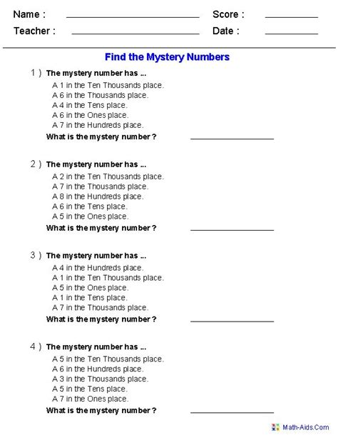 find the mystery number worksheets classroom ideas pinterest places number worksheets and
