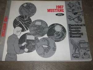 1987 Ford Mustang Electrical Wiring Diagrams Service Shop
