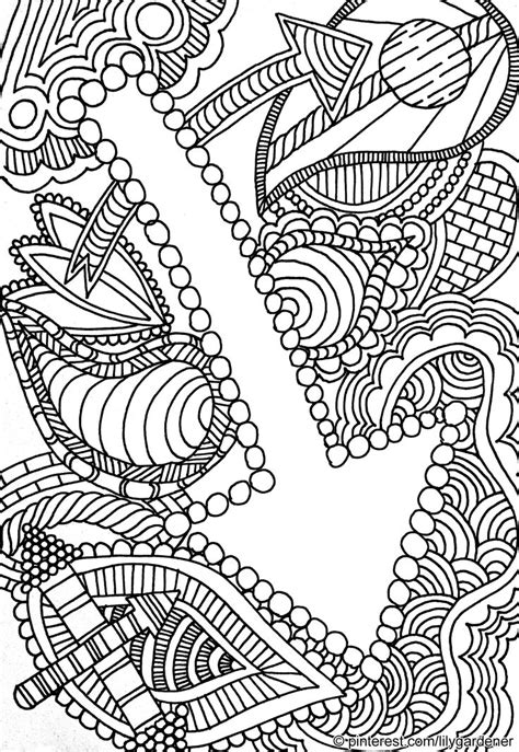 abstract coloring page  adults high resolution