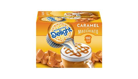 Elevate your coffee by adding a splash of international delight caramel macchiato coffee creamer singles filled with rich caramel flavor for an unforgettable cup of coffee with no refrigeration needed. International Delight Coffee Creamer Singles, Caramel Macchiato, 192 Count - Coupon Codes, Promo ...