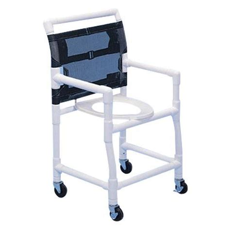 Pvc Commode Chair by Healthline Pvc Deluxe Shower Commode Chair Shower Chairs