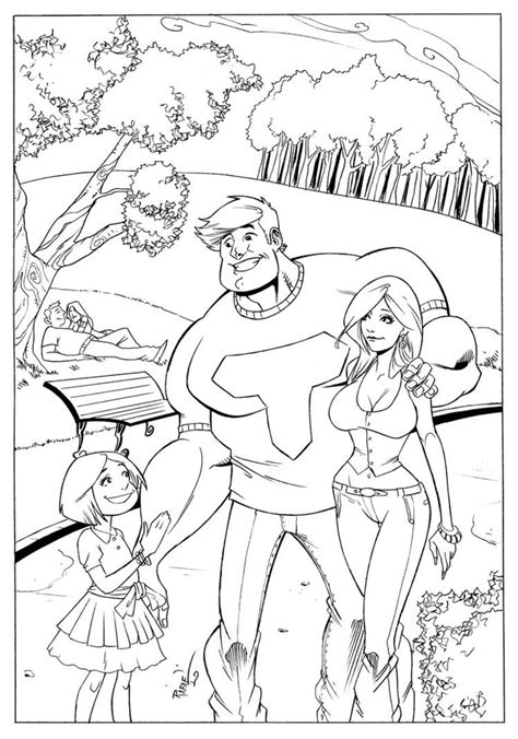 Kleurplaat Thundermans thundermans coloring pages coloring home