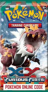 POKEMON XY03 X&Y FURIOUS FIST SET ONLINE BOOSTER PACK CODE ...
