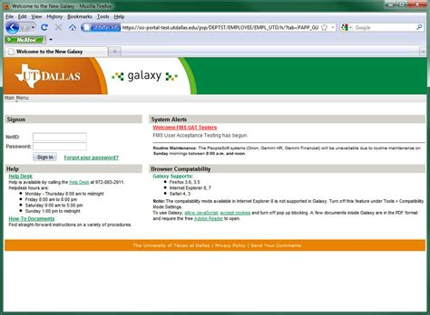 Utd Elearning Help Desk by New Galaxy Created At Ut Dallas The Overture
