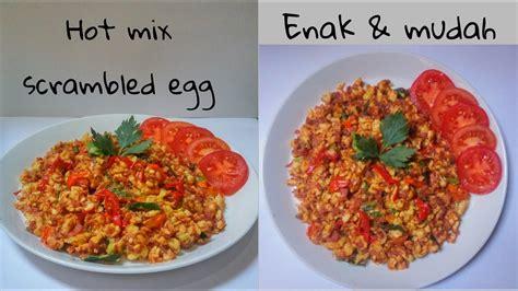 2 butir telur kocok lepas. Resep Telur Orak Arik Campur Pedas - Hot Mix Scrambled Egg - YouTube