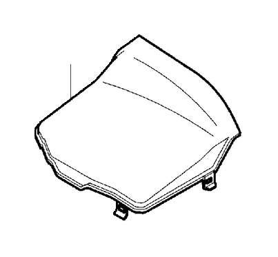 volvo  cover box battery mounting