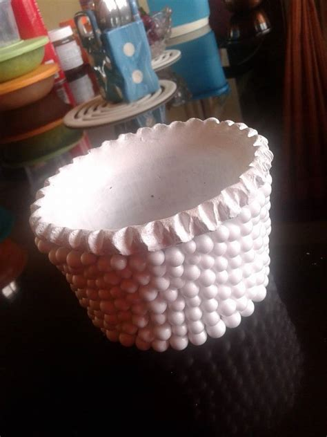thermocol balls decorate flower vase simple craft ideas