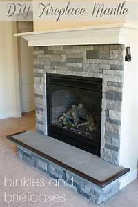 how to build a fireplace How to Build a Floating Fireplace Mantle • Binkies and Briefcases