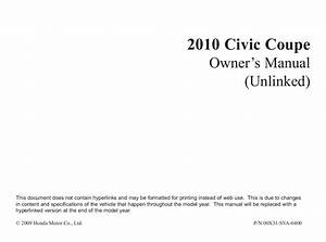 2009 Honda Civic Coupe Owners Manual Pdf