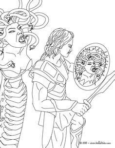 greek mythology drawings | MEDUSA the gorgon with snake