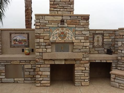 3 tile murals by murals by monti make our outdoor kitchen