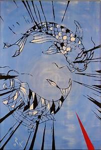 Koi Karpfen Preis : koi 3 karpfen koi tiere malerei von ralf klimmeck bei kunstnet ~ Orissabook.com Haus und Dekorationen