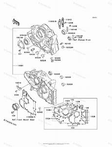 Kawasaki Atv 1994 Oem Parts Diagram For Crankcase
