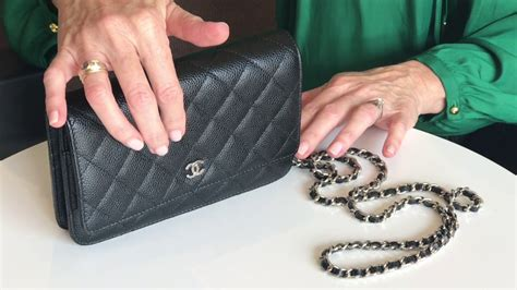 chanel wallet  chain bag review youtube