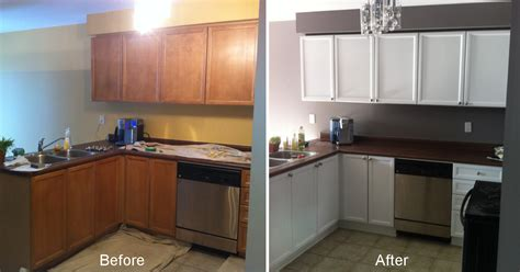 Refacing Kitchen Cabinet Doors Ideas - painting kitchen cabinets before and after 2 old kitchen pertaining to techniques in creating