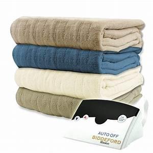 Biddeford Luxurious Microplush Electric Heated Blanket
