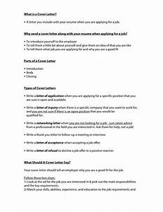 What do cover letters include cover letter example for What does a successful cover letter do