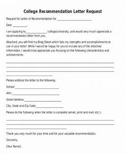 Letter To Ask For Recommendation Free 4 Sample Student Recommendation Letter Request In Ms