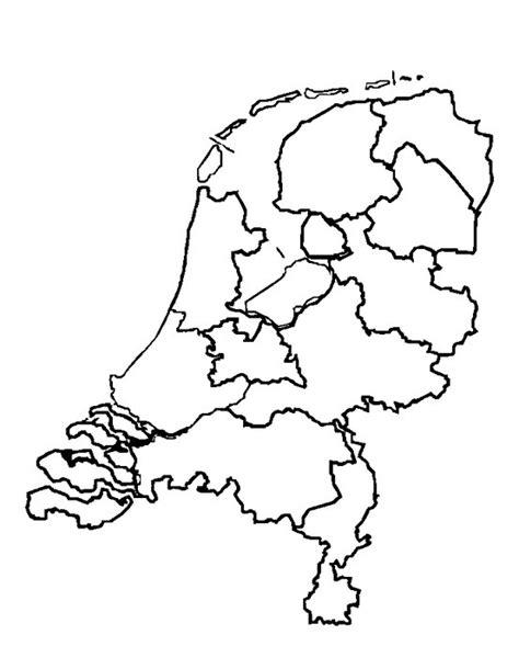 Kleurplaat Nederland Provincies by Kleurplaat Nederland Provincies Clip Vector Kaart