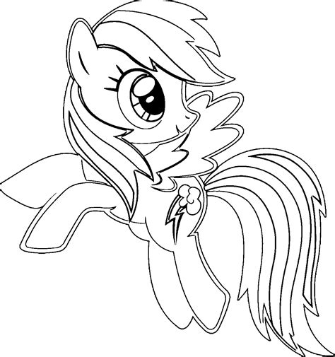 coloring pages  rainbow dash coloring home