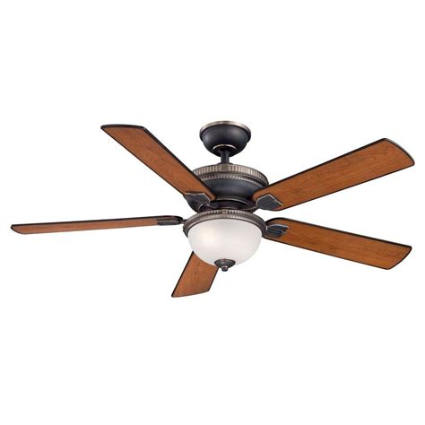 bronze ceiling fan with light and remote home decorators collection colbert 52 in indoor tarnished