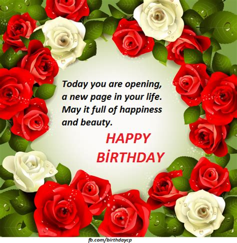 happy birthday pictures  roses wishes quotes