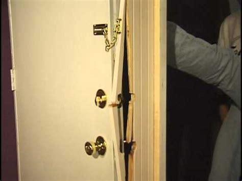 how to secure a door from being kicked in door barricade nightlock home security door brace how