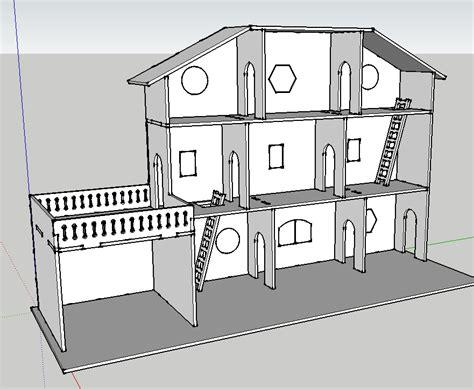 plan maison de poup 233 e d 233 coupe laser par mokozore sur l air du bois