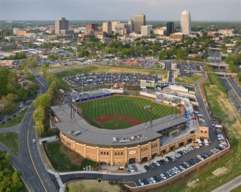 bb t ballpark and the winston salem skyline bb t ballpark home the o jays and of