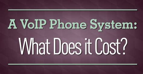 how much does a a voip phone system cost