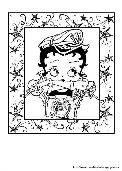 betty boop coloring pages   kids