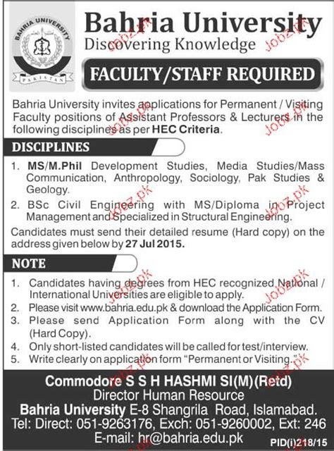 Faculty And Staff Job In Bahria University 2018 Jobs Pakistan. Audi A9 Concept Vehicle Price. Beautiful Real Estate Websites. Lowest Home Loan Rates Australia. Online Associate Degree In Computer Science. Planning Director Salary Articulos En Espanol. File Sharing Site Free How To Crate A Website. Criminal Justice Associate Degree Jobs. Certified Medical Assistant Programs