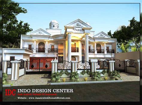 gaya desain rumah eropa klasik mewah yg  ideal