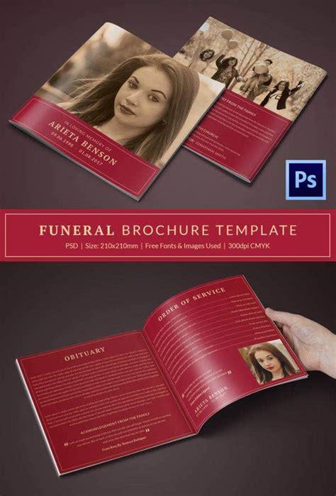 funeral program template   word  psd format