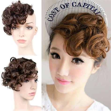hair extension hair styles new bangs clip on front inclined fringe hair 3925
