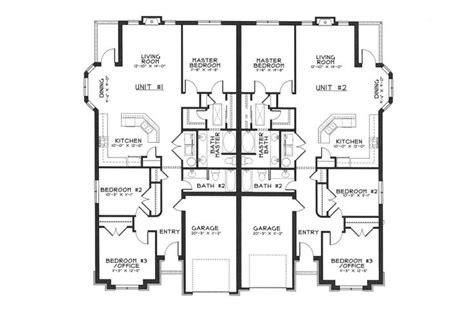 surprisingly duplex plans single story 1000 images about duplex house plans on house