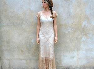 1930s silk lace wedding dress jacket 30s champagne sheer With silk dress and jacket for wedding