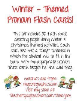winter themed pronoun activity pronoun activities