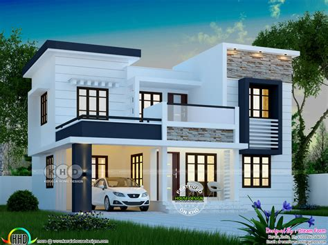 square feet modern  bedroom house plan kerala home design  floor plans