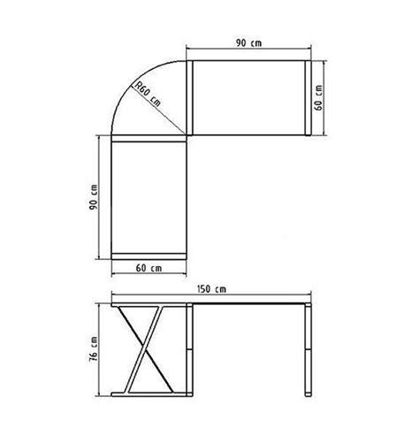 bureau dimension bureau d 39 angle en verre noir bureau informatique design