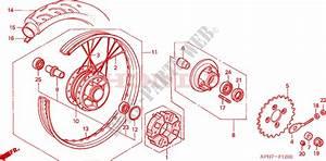 Rear Wheel For Honda Innova 125 2006   Honda Motorcycles