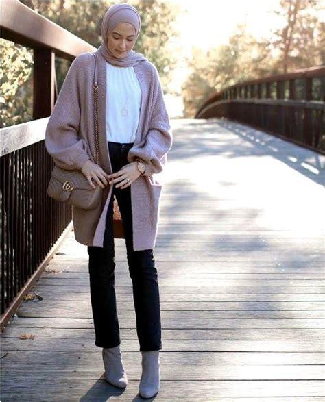 dress smart casual  winter  hijab