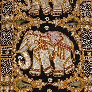 Elephant Wall Hanging Kalaga Needle Work Embroidery Wall ...